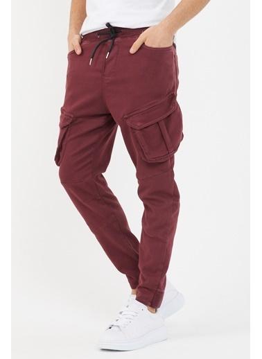 XHAN Bordo Kargo Cepli Pantolon  Kırmızı